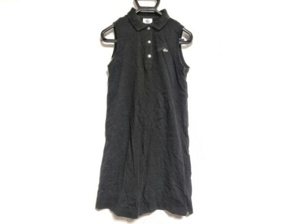 Lacoste(ラコステ) ワンピース サイズ42 L レディース 黒 ポロシャツワンピ