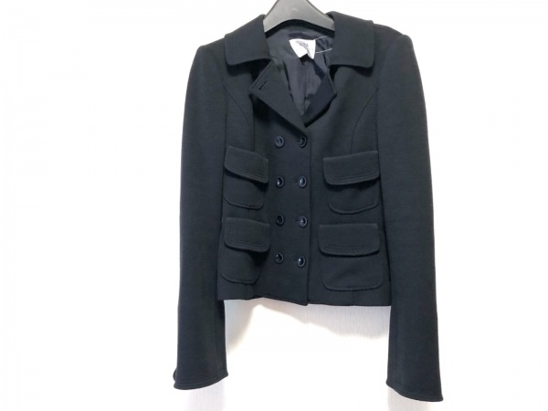 UMA ESTNATION(ユマエストネーション) ジャケット サイズ40 M レディース 黒 冬物