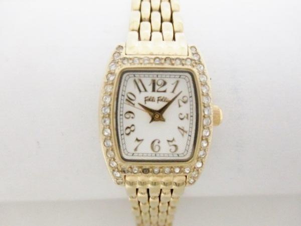 フォリフォリ 腕時計 WF5G142BPS ゴールド