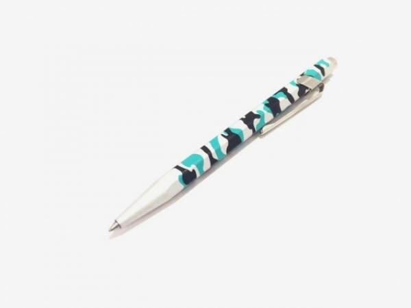 カランダッシュ ボールペン美品  シルバー×グリーン×黒 迷彩柄/インクあり(黒)