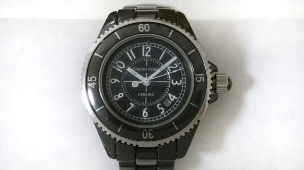 CharlesVogele(シャルルホーゲル) 腕時計美品  CV-9016-3 レディース ダークネイビー