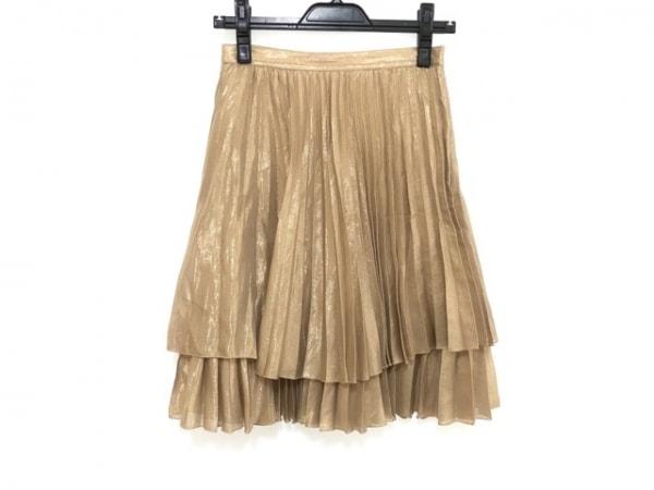 ブルーガールブルマリン スカート サイズ38 S レディース ベージュ×ゴールド