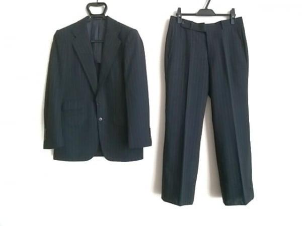 インターナショナルギャラリービームス シングルスーツ サイズ44 L メンズ 黒×グレー