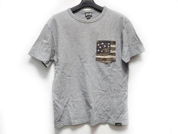 schott(ショット) 半袖Tシャツ サイズS メンズ グレー×ダークグレー×マルチ