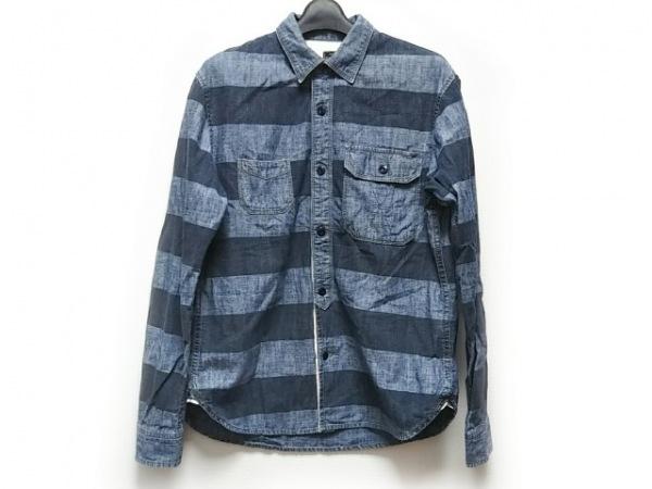 schott(ショット) 長袖シャツ サイズM メンズ ブルー×ネイビー