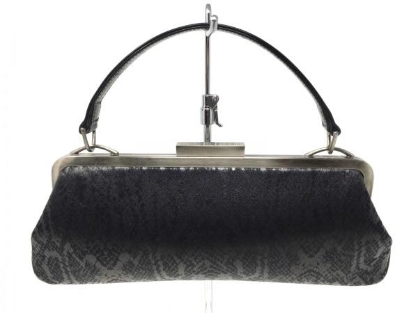 ジャンコロナ ハンドバッグ 黒×シルバー