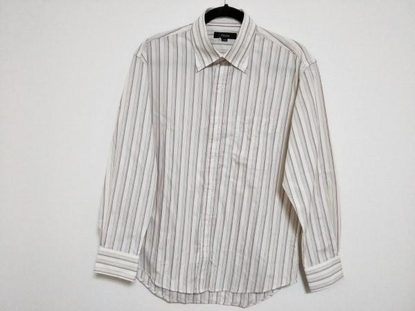 FICCE(フィッチェ) 長袖シャツ サイズL メンズ美品  アイボリー×パープル×マルチ