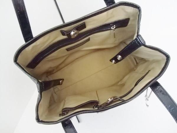 ピンキー&ダイアン トートバッグ 黒×ダークグレー×マルチ 5