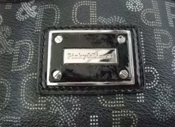 ピンキー&ダイアン トートバッグ 黒×ダークグレー×マルチ 6