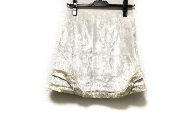 TOGA PULLA(トーガプルラ) スカート サイズ34 S レディース美品  白×ライトブラウン