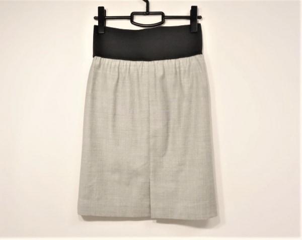 M.Fil(エム.フィル) スカート サイズ38 M レディース グレー×黒 ウエストゴム