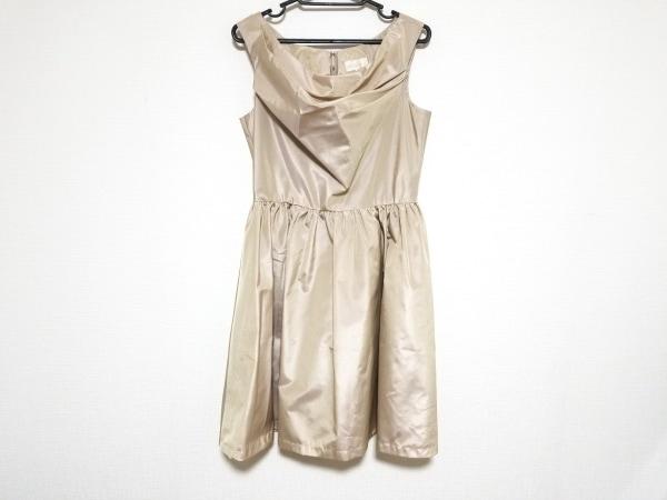 La Defence(ラデファンス) ドレス サイズ11 M レディース美品  ベージュ
