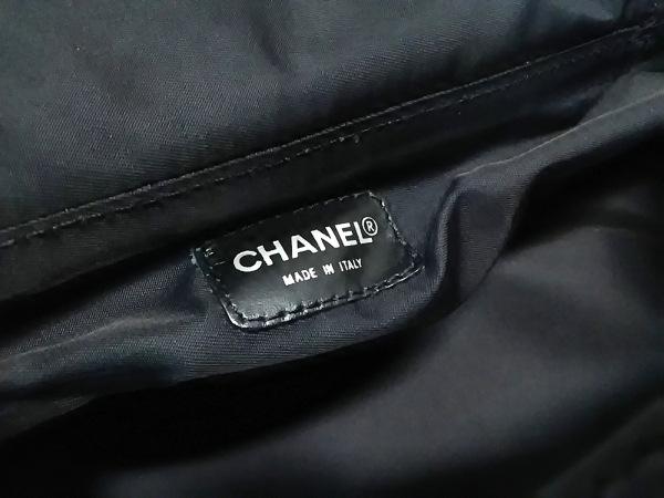 シャネル バニティバッグ ニュートラベルライン 黒 ナイロンジャガード×レザー