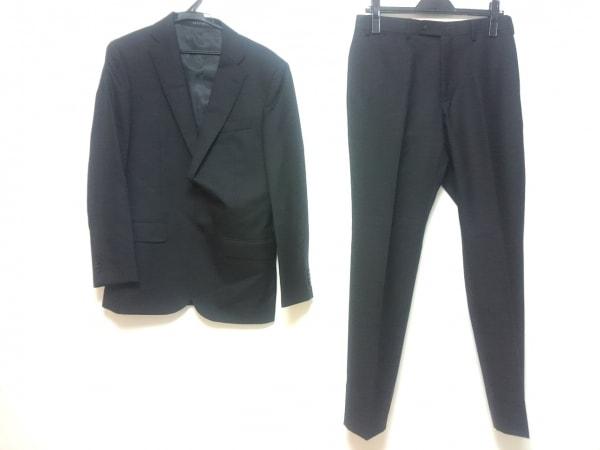 HILTON(ヒルトン) シングルスーツ メンズ 黒 シングル/肩パッド/パンツ2本