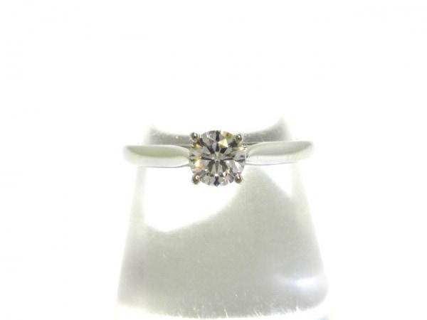 カルティエ リング 49美品  ソリテール Pt950×ダイヤモンド 0.31カラット/サイズ:49