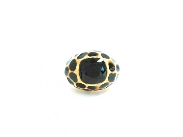 ケネスジェイレーン リング美品  金属素材×カラーストーン ゴールド×黒×マルチ