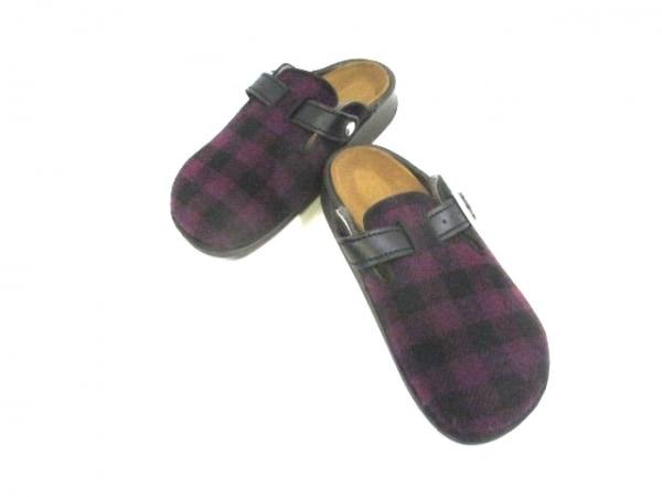 Footprints(フットプリンツ) サンダル 37 240 レディース美品  ボルドー×黒 ウール