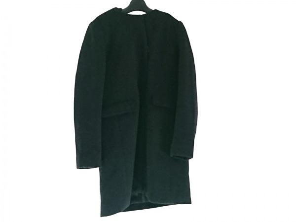 CHERRY ANN(チェリーアン) コート サイズ9AR S レディース 黒×ダークネイビー 冬物