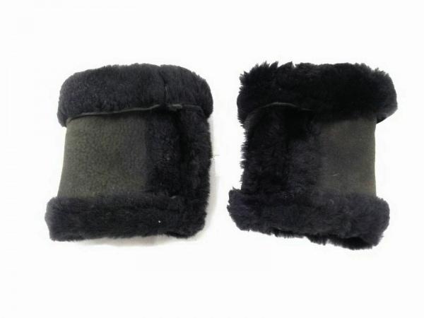 GUSHLOW&COLE(ガシュロウ&コール) 手袋 レディース美品  ダークブラウン×黒 ムートン