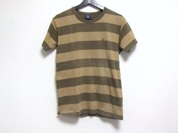 エイチ/ヒステリックグラマー 半袖Tシャツ サイズF レディース ベージュ×カーキ