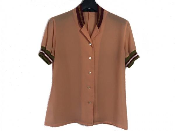 ゴルチエ 半袖シャツブラウス サイズ40 M レディース オレンジ×レッド×マルチ