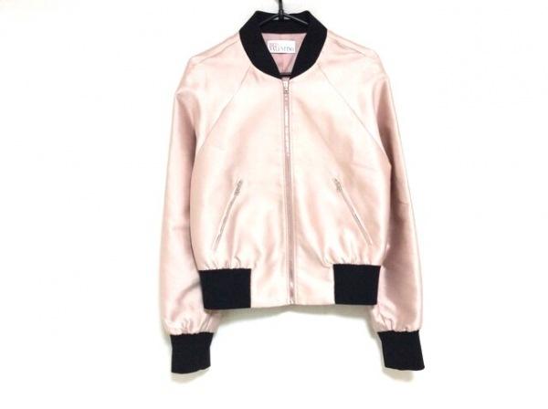 バレンチノ ブルゾン サイズ38 M レディース美品  ピンク×黒 春・秋物