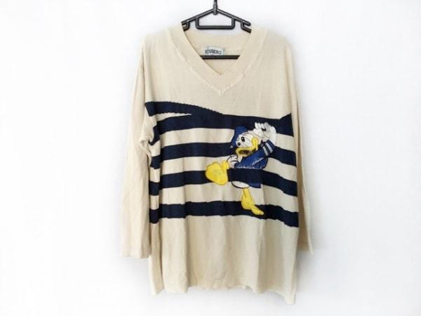 アイスバーグ 長袖セーター サイズ40 M レディース ベージュ×ダークネイビー×マルチ