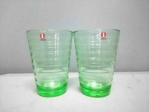 iittala(イッタラ) ペアグラス新品同様  ライトグリーン ガラス