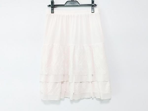 Rose Tiara(ローズティアラ) スカート サイズ42 L レディース美品  アイボリー レース