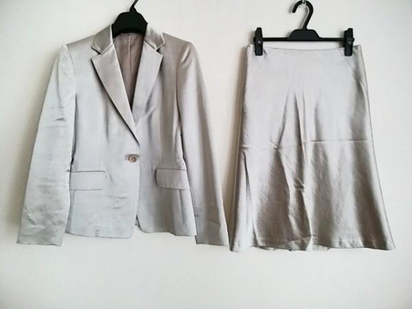 コムサデモード スカートスーツ サイズ9 M レディース シルバー 肩パッド