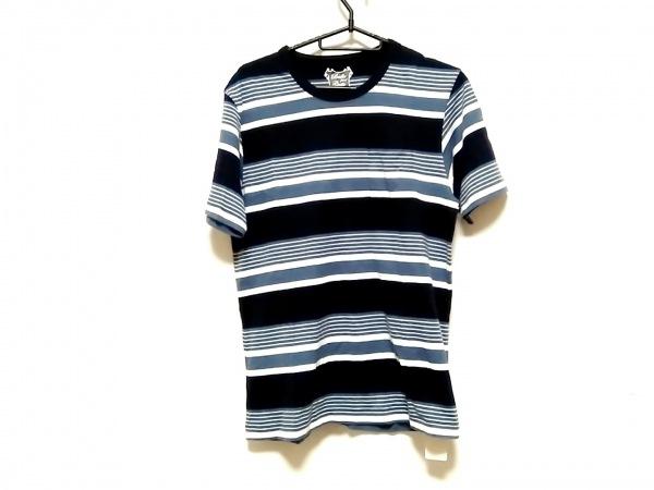 ブリラ 半袖Tシャツ サイズS メンズ ネイビー×ライトブルー×白 ボーダー/2003