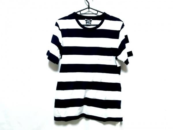 BRILLA(ブリラ) 半袖Tシャツ サイズS メンズ ネイビー×白 ボーダー/2003