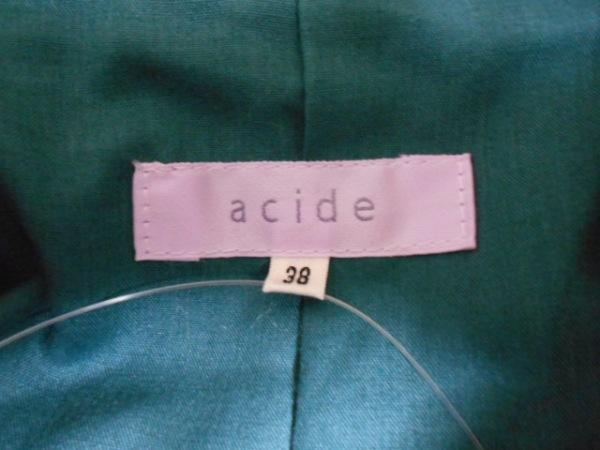 acide(アシッド) コート サイズ38 M レディース ダークグリーン×グレー×ネイビー