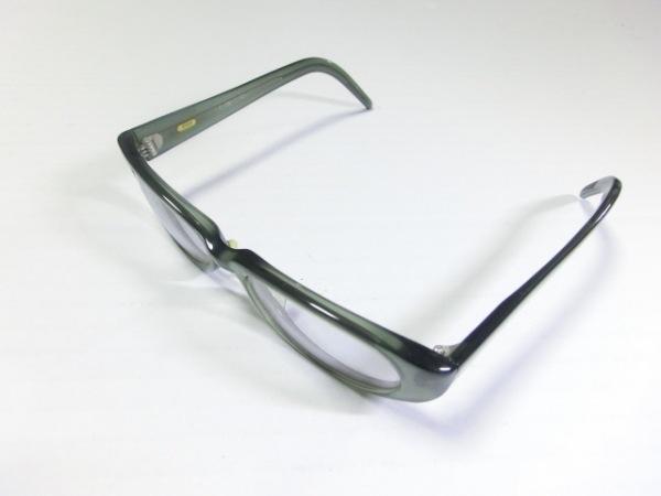 999.9(フォーナインズ) メガネ美品  ダークグリーン プラスチック
