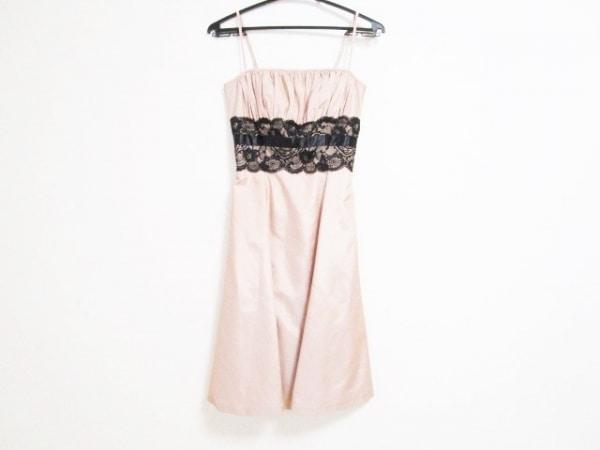 ラデファンス ドレス サイズ9 M レディース美品  ピンクベージュ×黒 レース