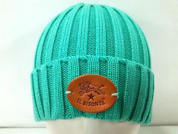 IL BISONTE(イルビゾンテ) 帽子美品  グリーン コットン