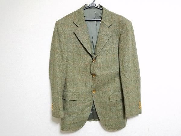 フランコプリンツィバァリー ジャケット サイズ48 XL メンズ 肩パッド/チェック柄