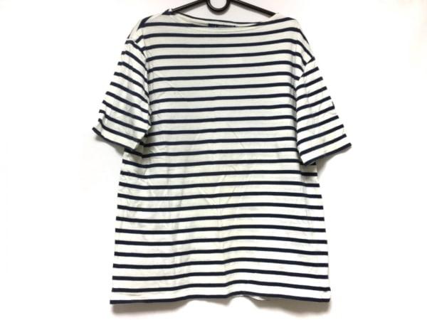 SAINT JAMES(セントジェームス) 半袖Tシャツ メンズ ネイビー×アイボリー ボーダー