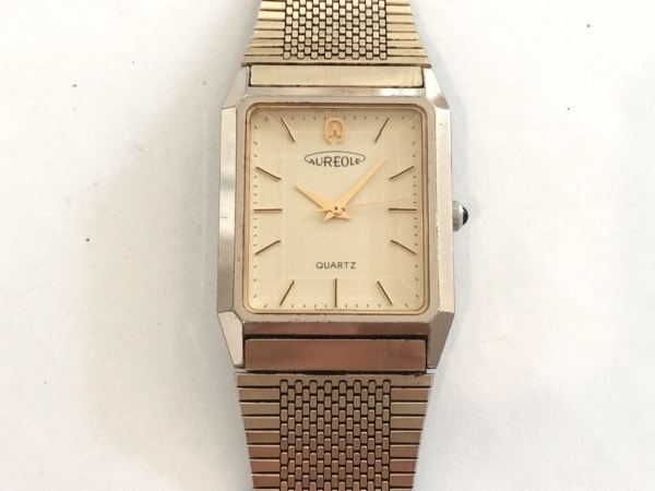 AUREOLE(オレオール) 腕時計 SW-E116 メンズ アイボリー