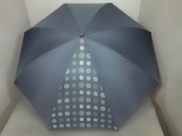 Mercedes-Benz(メルセデスベンツ) 折りたたみ傘美品  ダークグレー 化学繊維