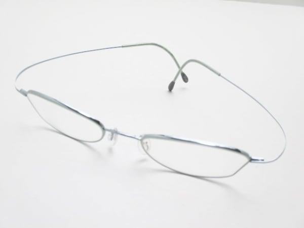 シルエット メガネ M6520 クリア×メタリックブルー 度入り プラスチック×金属素材