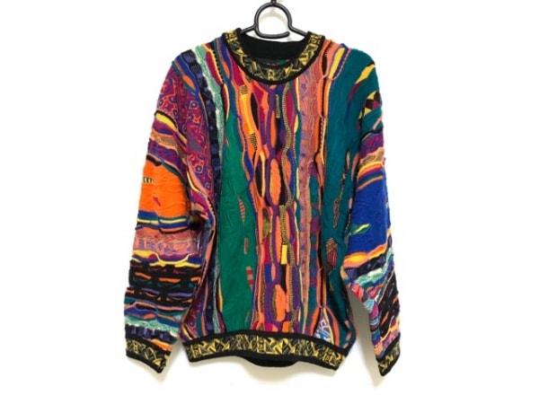 COOGI/CUGGI(クージー) 長袖セーター サイズSS XS メンズ グリーン×オレンジ×マルチ
