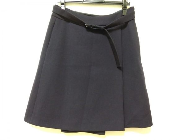 PRADA(プラダ) スカート サイズ42 M レディース ネイビー