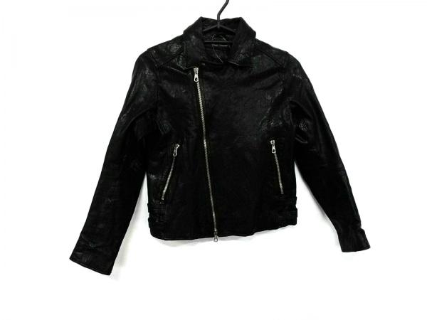 バークタンネイジ ライダースジャケット サイズ34 S レディース美品  黒 冬物
