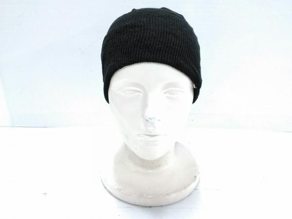 COEUR(クール) ニット帽 黒 麻×アクリル
