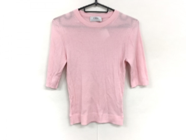 ユマエストネーション 半袖セーター サイズ40 M レディース美品  ピンク