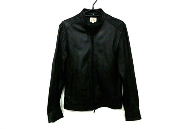 グリーンレーベルリラクシング ライダースジャケット サイズS メンズ 黒