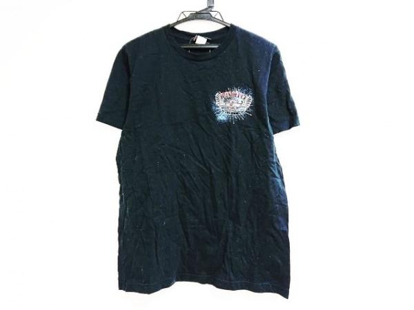ハーレーダビッドソン 半袖Tシャツ サイズMEDIUM M レディース 黒×マルチ HAWAII