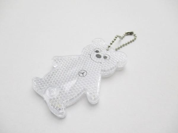 メルセデスベンツ キーホルダー(チャーム)美品  クリア×黒 クマ/反射板 プラスチック