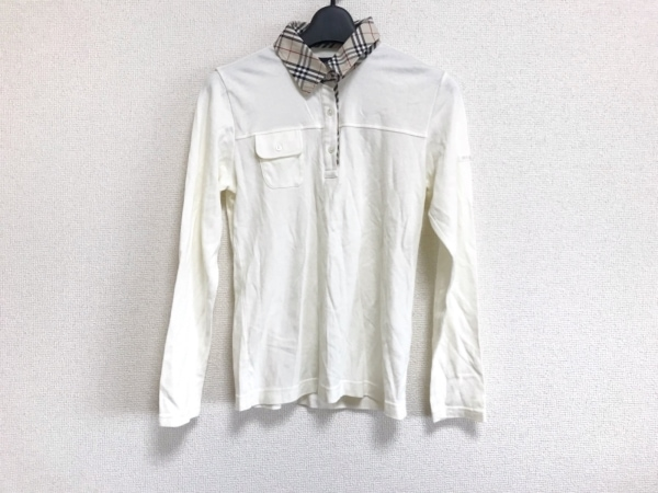 BURBERRYGOLF(バーバリーゴルフ) 長袖ポロシャツ サイズM レディース美品  チェック柄